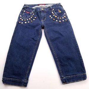 Vintage Baby Phat Embroidered Kitty Crop Jeans 5